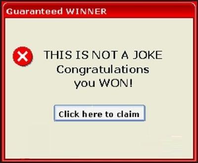 Типичное окно рекламного Adware