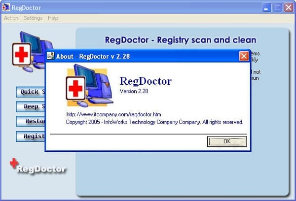 Программа RegDoctor