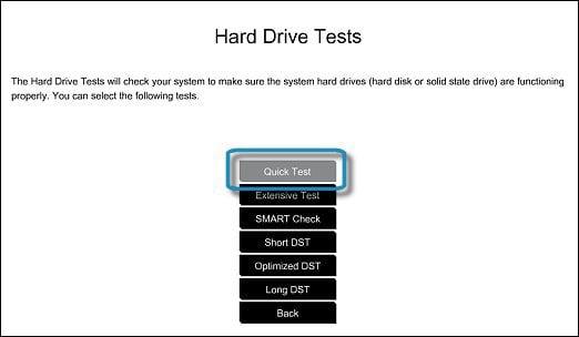 Выполните быстрый тест вашего диска