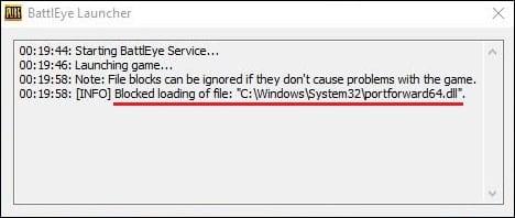 Уведомление о блокировке файлов