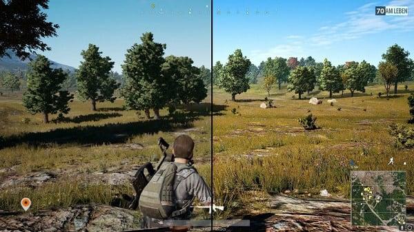 Разница в изображение без задействования технологии и с ней
