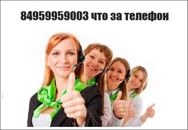 Разбираемся, что за номер 84959959003