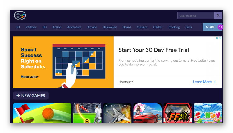 Сайт nono.games с играми