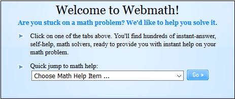 Стартовый экран webmath