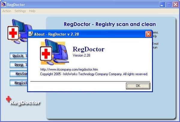Используйте RegDoctor для поиска и исправления ошибок в системном реестре