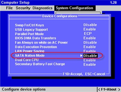 Настраиваем работу жесткого диска в BIOS