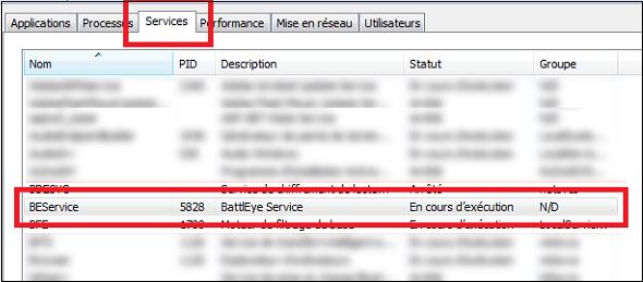 BEService.exe в списке процессов Виндовс